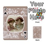 Mocha Batik 54 Design Cards - Playing Cards 54 Designs