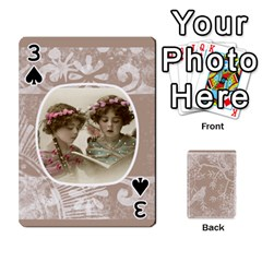 Mocha Batik 54 Design Cards By Catvinnat   Playing Cards 54 Designs   D7u7xyo8jrmu   Www Artscow Com Front - Spade3