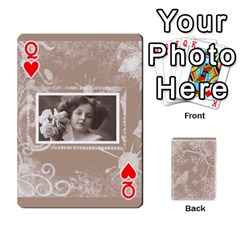 Queen Mocha Batik 54 Design Cards By Catvinnat   Playing Cards 54 Designs   D7u7xyo8jrmu   Www Artscow Com Front - HeartQ