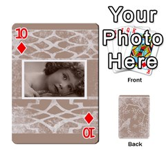 Mocha Batik 54 Design Cards By Catvinnat   Playing Cards 54 Designs   D7u7xyo8jrmu   Www Artscow Com Front - Diamond10