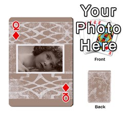 Queen Mocha Batik 54 Design Cards By Catvinnat   Playing Cards 54 Designs   D7u7xyo8jrmu   Www Artscow Com Front - DiamondQ