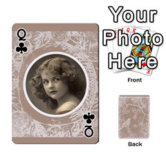 Queen Mocha Batik 54 Design Cards By Catvinnat   Playing Cards 54 Designs   D7u7xyo8jrmu   Www Artscow Com Front - ClubQ