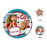my girl - Playing Cards (Round)