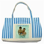 bag for burma - Striped Blue Tote Bag