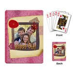 happy girl - Playing Cards Single Design