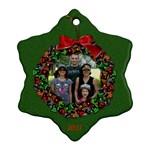 Snowflake Wreath - Ornament (Snowflake)
