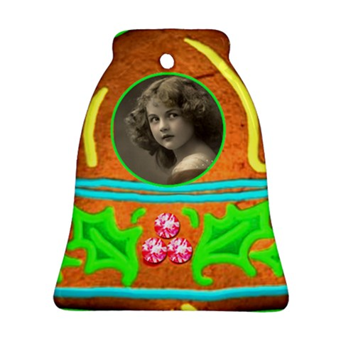 Gingerbread  Bell Ornament Single Sided By Catvinnat   Ornament (bell)   Q5ivs0ixhv6s   Www Artscow Com Front