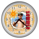 summer - Wall Clock (Silver)