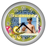 summer - Wall Clock (Silver)