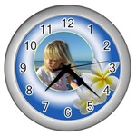 Cloud Puff clock - Wall Clock (Silver)