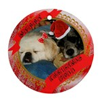 Trucker and Prissy Christmas 2011 - Ornament (Round)