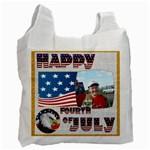 Happy Fourth of July Recycle bag double sided - Recycle Bag (Two Side)