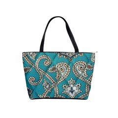 Peacock Classic Shoulder Bag By Eleanor Norsworthy   Classic Shoulder Handbag   Zy6vqohnxip9   Www Artscow Com Front