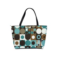 Dot Fabric Classic Shoulder Bag By Eleanor Norsworthy   Classic Shoulder Handbag   8fy2l04nwyha   Www Artscow Com Back