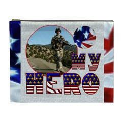 My Hero US Military Cosmetic Bag Extra Large by Catvinnat Front