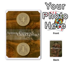 Ace Aether Captains: Capek Golems [economy] By Todd Sanders   Playing Cards 54 Designs   Uy3f2ynfv8qf   Www Artscow Com Front - ClubA