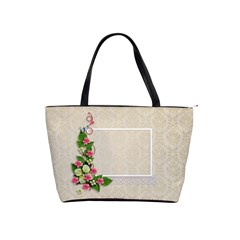 Shoulder Handbag   Lace And Flowers By Jennyl   Classic Shoulder Handbag   Rkzw06scnobr   Www Artscow Com Front