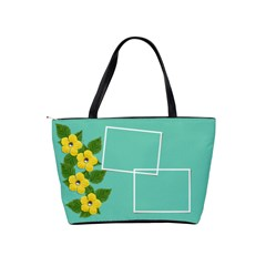 Shoulder Handbag   Yellow Flowers By Jennyl   Classic Shoulder Handbag   63xfolxut2p5   Www Artscow Com Back