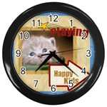 pet - Wall Clock (Black)