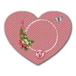 Mousepad Heart- Polka Love - Heart Mousepad