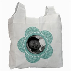 Tiffany Blue 2 Sided Recycle Bag By Klh   Recycle Bag (two Side)   Rstfxqm2armi   Www Artscow Com Front