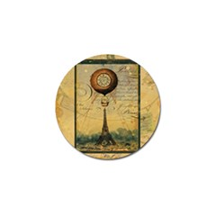 Steampunk Hot Air Balloon Pillow Gold 2 For Artsnow Golf Ball Marker (4 pack) from ArtsNow.com Front