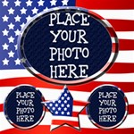 July 4th 8x8 Scrapbook Pages - ScrapBook Page 8  x 8
