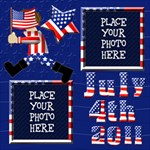 4th of July 12x12 Scrapbook Pages - ScrapBook Page 12  x 12