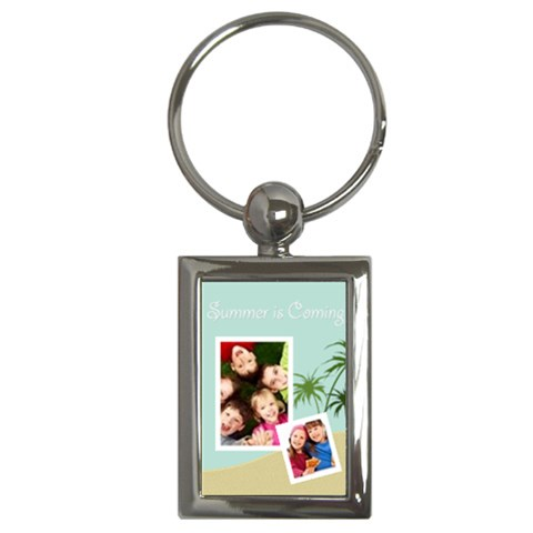 Summer By Wood Johnson   Key Chain (rectangle)   29e284t885ko   Www Artscow Com Front