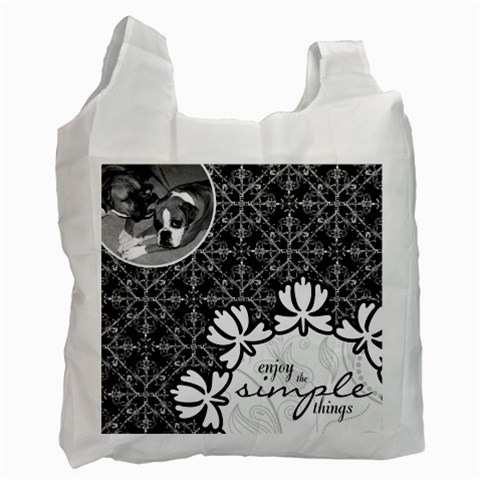Enjoy the Simple Things Recycle Bag by Kristen L. Youles Front