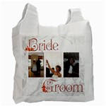 Bride & Groom Triple Frame Single Side Recycle Bag - Recycle Bag (One Side)