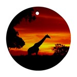 giraffe - Ornament (Round)