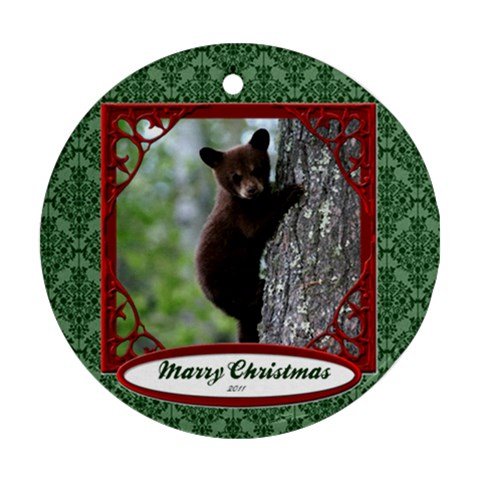 Bonnies Bear By Kamryn   Ornament (round)   Y9r9oi63x2uo   Www Artscow Com Front