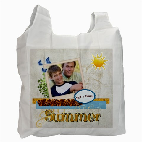 Summer By Joely   Recycle Bag (one Side)   Pmeclfo6nbfk   Www Artscow Com Front
