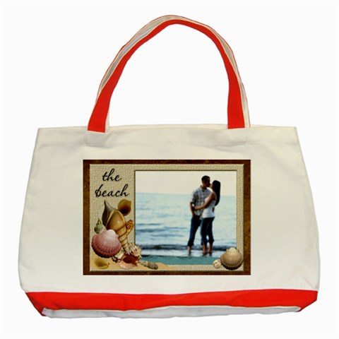 The Beach Red Classic Tote Bag By Lil    Classic Tote Bag (red)   3pqjd14nz2uc   Www Artscow Com Front