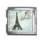 Eiffel Tower Pink Roses Pillow Square Copy Cc Mega Link Italian Charm (18mm)