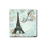 Eiffel Tower Pink Roses Pillow Square Copy Cc Magnet (Square)