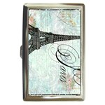 Eiffel Tower Pink Roses Pillow Square Copy Cc Cigarette Money Case