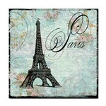 Eiffel Tower Pink Roses Pillow Square Copy Cc Face Towel