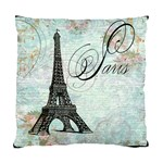 Eiffel Tower Pink Roses Pillow Square Copy Cc Cushion Case (Two Sides)