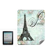 Eiffel Tower Pink Roses Pillow Square Copy Cc Apple iPad Skin