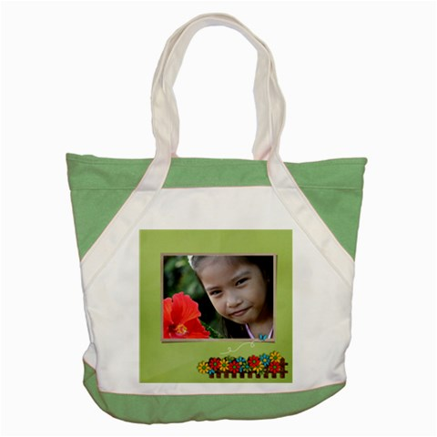 Accent Tote Bag : Summer Flowers By Jennyl   Accent Tote Bag   Dd7zxog4q7w8   Www Artscow Com Front