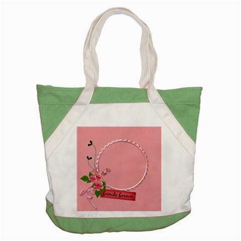 Accent Tote Bag: Friends Forever By Jennyl   Accent Tote Bag   X1on1h0ped4q   Www Artscow Com Front