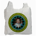 Turquoise & Lime Green Recycle Bag - Recycle Bag (One Side)