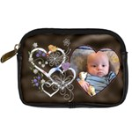 Heart Design Camera Case - Digital Camera Leather Case