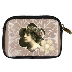 Flora Camera Case By Catvinnat   Digital Camera Leather Case   H5tuggb9w799   Www Artscow Com Back