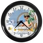 summer - Wall Clock (Black)