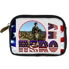 My Hero Us Military Camera Case By Catvinnat   Digital Camera Leather Case   Nmwfvfnnooyr   Www Artscow Com Front