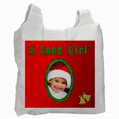 A Good Girl Santa Bag By Deborah   Recycle Bag (two Side)   Egu1a1qvuycv   Www Artscow Com Front