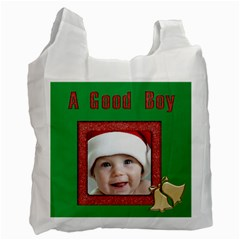 A Good Boy Santa Sack Recycle Bag (2 Sided) By Deborah   Recycle Bag (two Side)   700kenys59id   Www Artscow Com Front